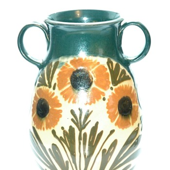 art nouveau vase with floral decoration  by LEON ELCHINGER