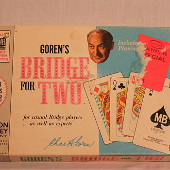 Vintage Charles Goren's Bridge For Two Card Game ~ 1964