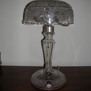 "Cut Crystal Lamp - socket marked ""Bryant"" - Lamps"
