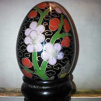 Chinese cloisonne eggs