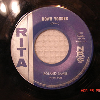 Roland James Record Not Ever Issued Copy / Lightin' Leon Different Number Rita Record Records