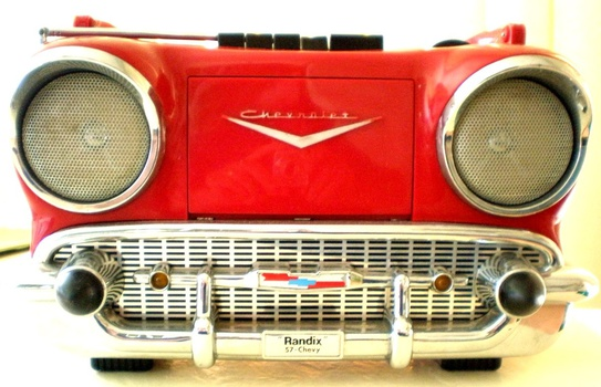 Radio in radios transistor radios show tell and classic cars chevrolet