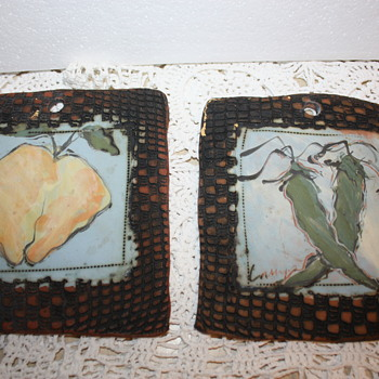 Primitive Clay Art Tiles - Pottery