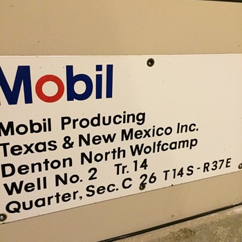 Mobil headquarters sign