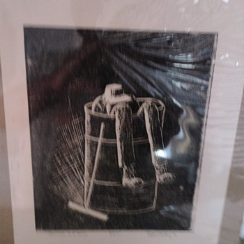 Vintage Etching/Woodblock Print