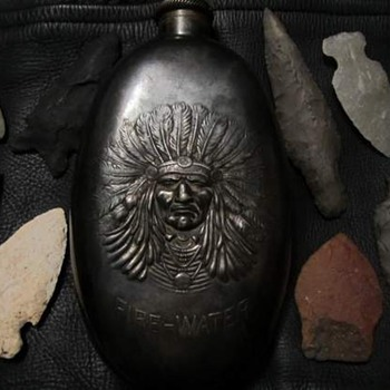Indian Fire Water Flask - Sterling Silver
