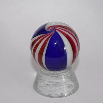 Modern Peppermint Swirls - Art Glass