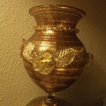 Copper and Gold art glass - Art Glass