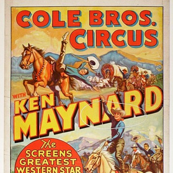 Ken Maynard - Western Movie Star and Circus Headliner - Posters and Prints
