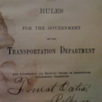 1887-L&amp;N Railroad Rule Book - Railroadiana