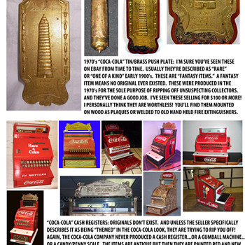 Coca-Cola Memorabilia: it's not always The Real Thing. - Coca-Cola