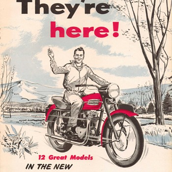 1957 Triumph Motorcycles Brochure - Advertising