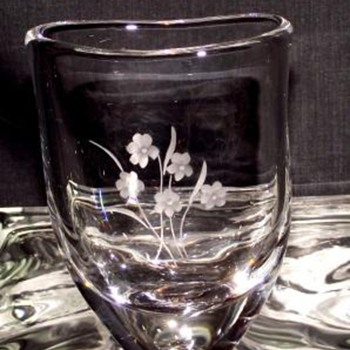 ORREFORS CRYSTAL MINI PILLOW VASE - Art Glass