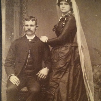 Black Wedding dress old photo  - Photographs