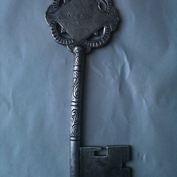 Antique silver ornate key