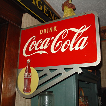 1949 Coca-Cola Double-Sided Flange Sign