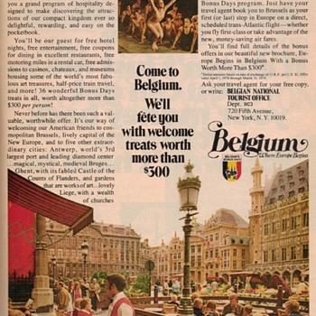 1978 - Travel Belgium Advertisement