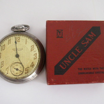 1934 Ingraham Uncle Sam Trade Mark - Pocket Watches
