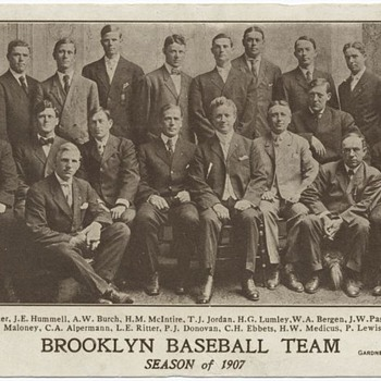 1907 Brooklyn Baseball Team photo - Baseball