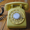 Yellow Western Electric Model 500 Telephone