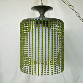 green beaded swag - Lamps
