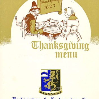 36th Inf. Regt. and 48th Inf. Thanksgiving Menu Germany 1962/63