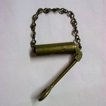 Tool for inspecting rifle barrel.