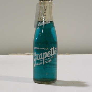 Grapette Grape soda bottle.