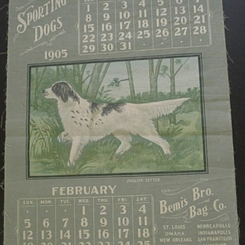 1905 Bemis Bros. Bag Co. Advertising Calendar