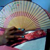 JAPANESE HAND FANS WITH SILK COVER