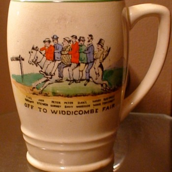 """Off To Widdicombe Fair"" Mug Made In England - Pottery"