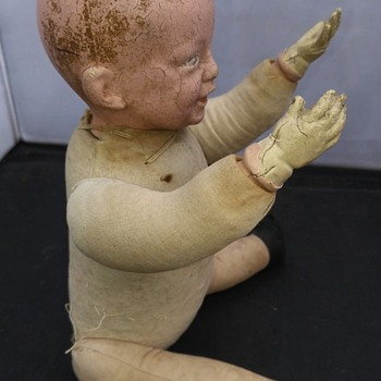 antique German bisque boy doll part 2