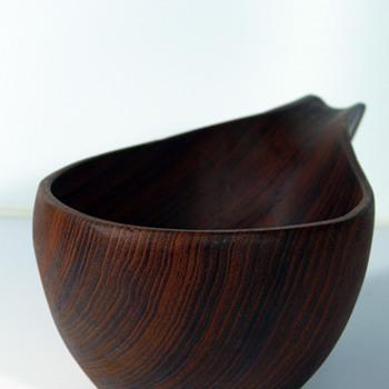 teak wooden ladle - Mid-Century Modern