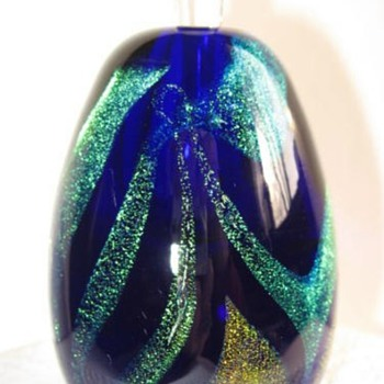Cobalt Scent Bottle - Art Glass