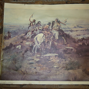 Charles M Russell-Indians Discovering Lewis and Clark-G708