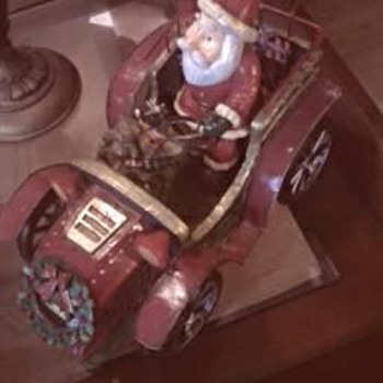 Santa Musical Metal Car - Christmas