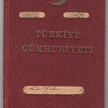 1940 Turkish Service passport - WW2 - Paper