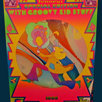 SIGNED Original Peter Max 1969 Advertising Poster for J.C. Penney