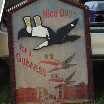 Wooden Guinness sign - Breweriana