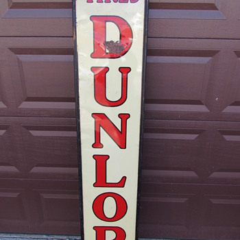 "Large Vintage Dunlop Tires Sign 6'x14"" - Signs"