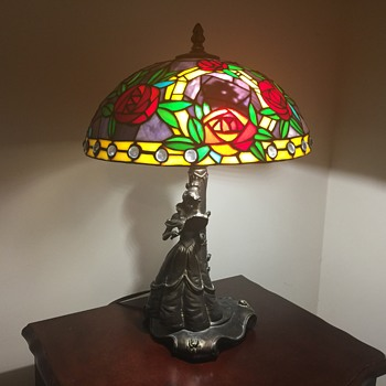 Glassmasters Disney Beauty and the Beast lamp