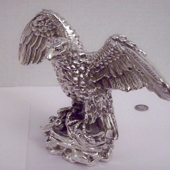 Miller Brewery Sterling Silver Eagle Figurine/Statue CEO Presentation Piece