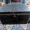 Late 1700&#039;s antique Brass Tack Trunk