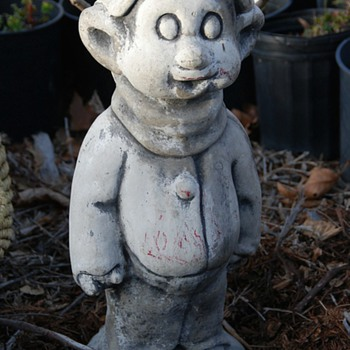 Vintage 1940s Cement &#039;Dopey&#039; from Snow White