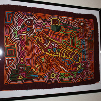 Molas made by the Kuna from Panama