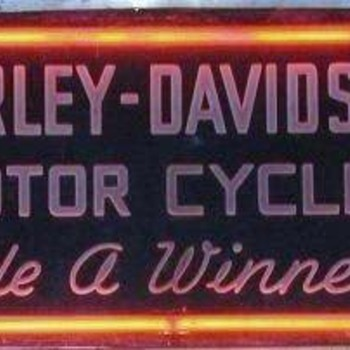 1930's Art Deco Harley-Davidson Neon Sign - Signs