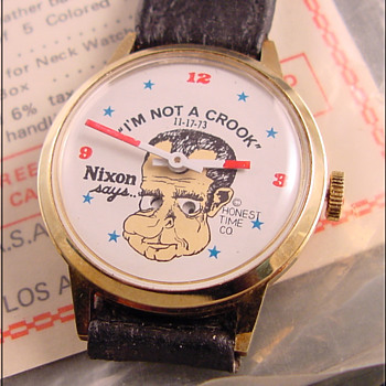 "Nixon ""I am not a crook"" wristwatch"