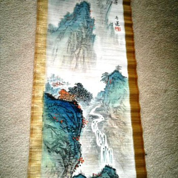 Chinese Bamboo Scroll - Asian