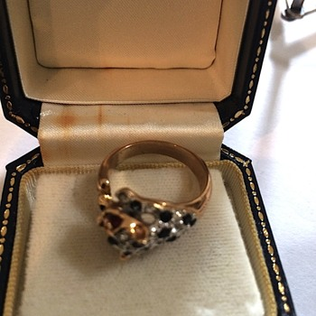 Vintage Gold Cat Ring