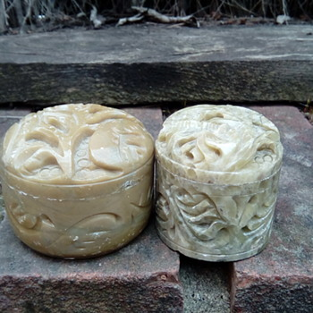 My soap stone pots